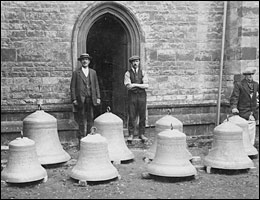 The Church bells - ready for rehanging in 1920