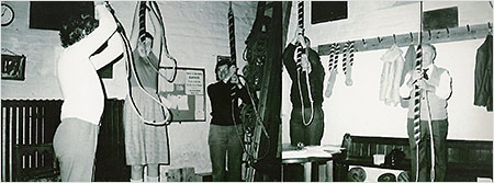 Photograph of bell ringers practice 1985