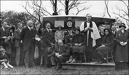 Revd H T Edwards presiding over the dedication ceremony of the first ambulance in 1932