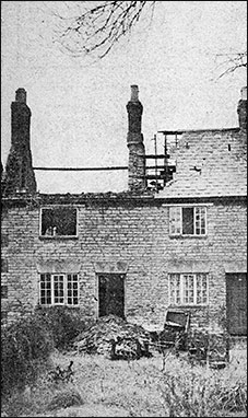 The damaged cottages after the Bakehouse Lane fire.