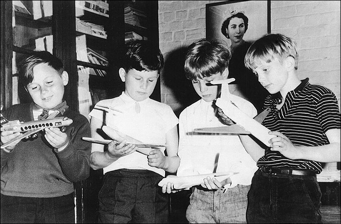 Burton Latimer Council School - Airplane Modelling Competition winners - mid/late 1960s