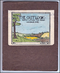 "Front cover of the first issue of ""The Outlook"", published in Autumn 1926"
