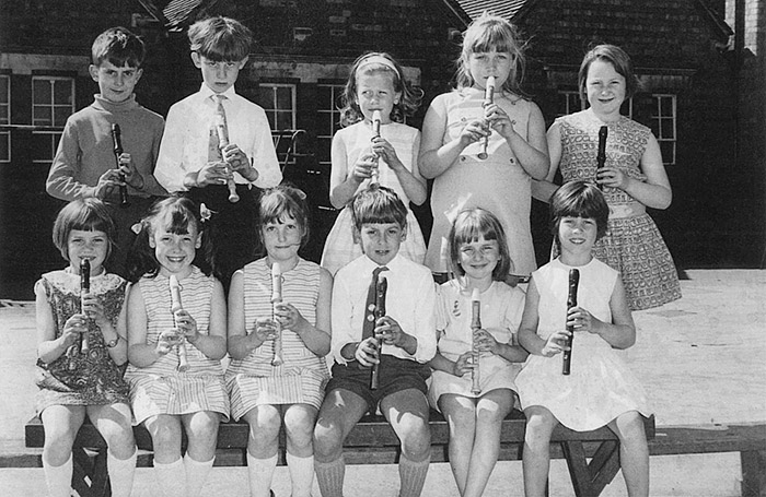 Burton Latimer Council Junior School  - Class 1E Recorder Group 1969