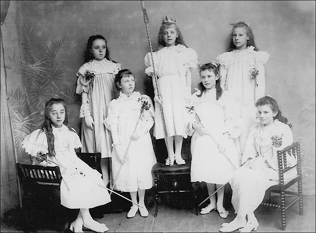 St Mary's School Play in 1897 - Cinderella