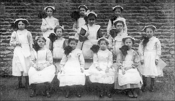 St Mary's School girls group c.1900