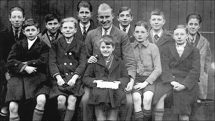 St Mary's Church School c.1924 - Mr Harvey & boys