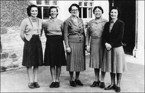 Staff at Burton Latimer County Infants School in the early 1950s