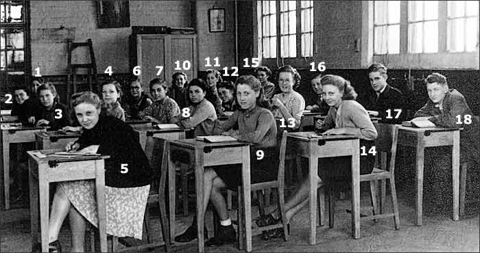 Burton Latimer Council School - Classroom Scene - late 1940s