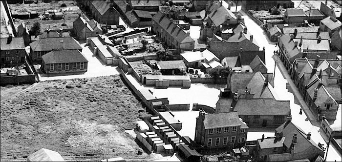 Burton Latimer Council Schools - view from the north-east in 1950