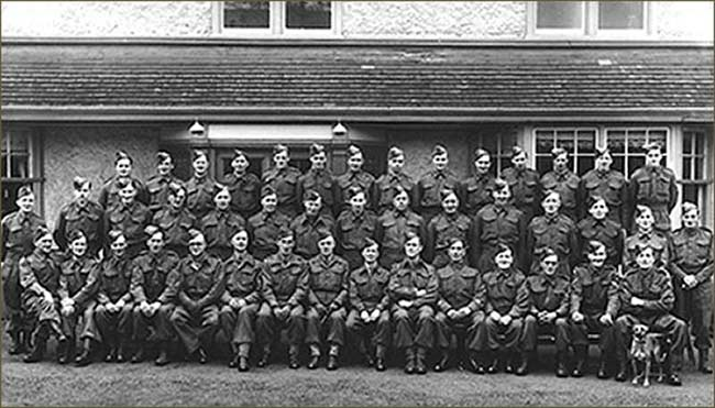 Photograph of the Burton Latimer Home Guard during the II World War.  Mr Keith Coles is sixth from the left on the front row