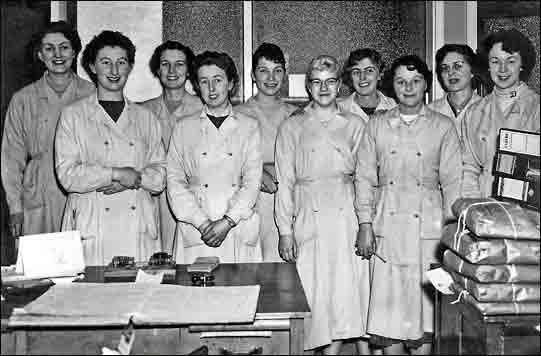 Photograph of Coles Boot Co Office Staff