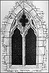 The fourteenth century west window in the Infirmary