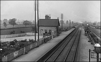 The railway station at Burton Latimer pre-1923