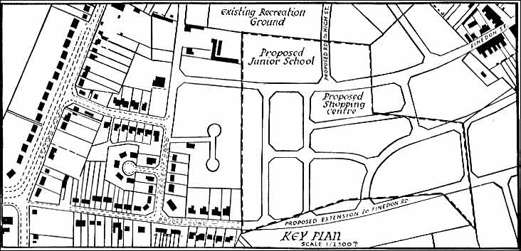 Map showing proposed development