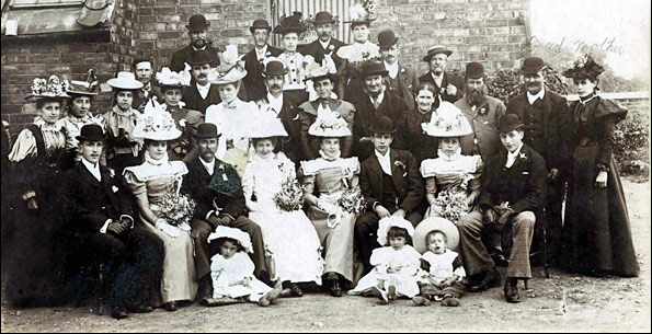 An Allen family wedding photograph