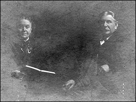 This photograph taken about 1910, now unfortunately somewhat faded, shows Mary and James Talbutt together.