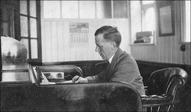 Photograph of Oliver Tailby in his office at Whitney & Westley Ltd