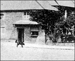 Part of an early  photo showing the