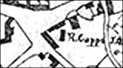 Part of the 1803 enclosure Award map showing Robert Capps' premises.