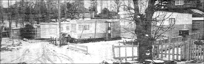 Caravan Site behind the former Thatcher's pub - view in January 1980