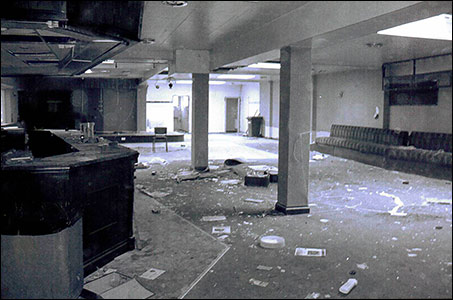 The bar area during demolition March 2013