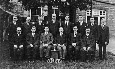 Photograph of the Quoits Team taken in the mid 1920s.