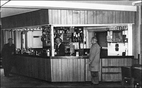 Photograph of the refurbished bar at The Rack.