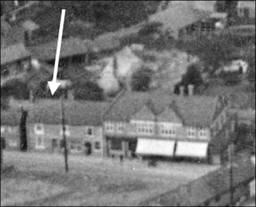 An aerial view of Loveday's and the Co-op, taken in 1923