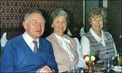 Phil Quincet, Heather Smith & Mary Lyon at Phil's retirement party in 1984