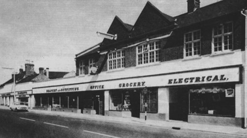 1969 photograph of the extended Co-op store.