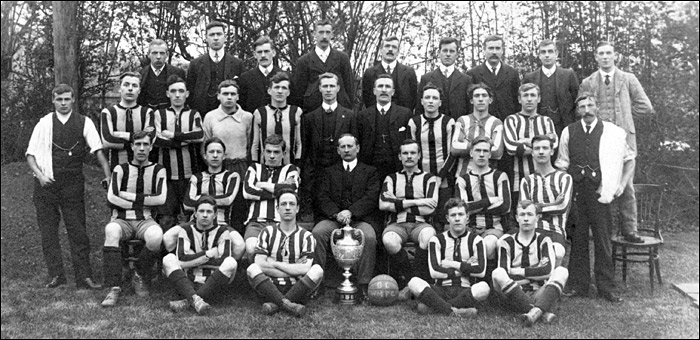 Pictured during the 1906/7 season is the Burton Latimer Working Men's football team