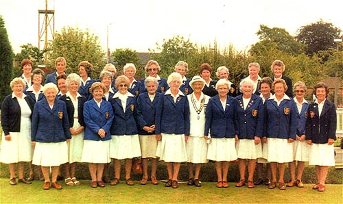 Ladies Section - 1986 with club member, Miss Margaret Atkinson (County Ladies President) in the centre