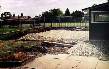 Laying foundations of new Clubhouse - September 2005