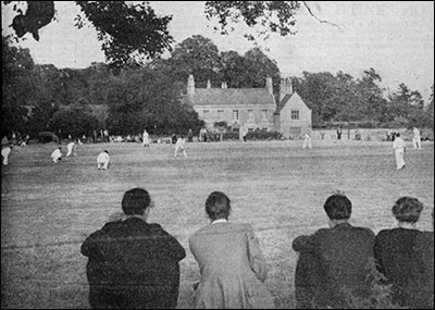 Burton Latimer Cricket Club ground and Burton Latimer Hall - date unknown