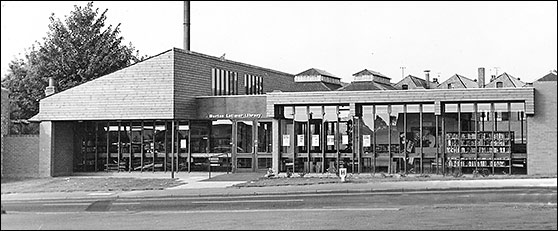 A 1973 view of the present library soon after its opening