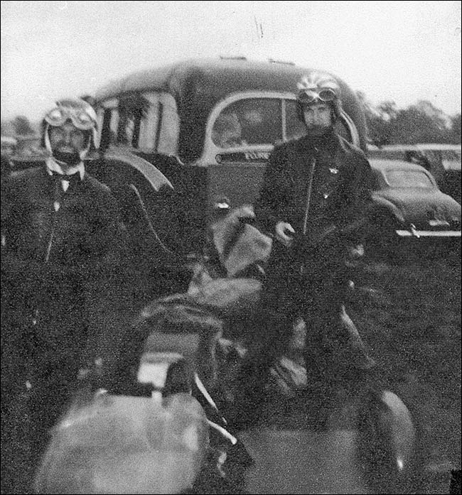 Les Judkins and Norman Panter sidecar racing at Oulton Park in the 1960's