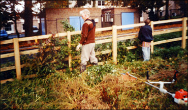 Burton Latimer Pocket Park - maintenance work in 1997