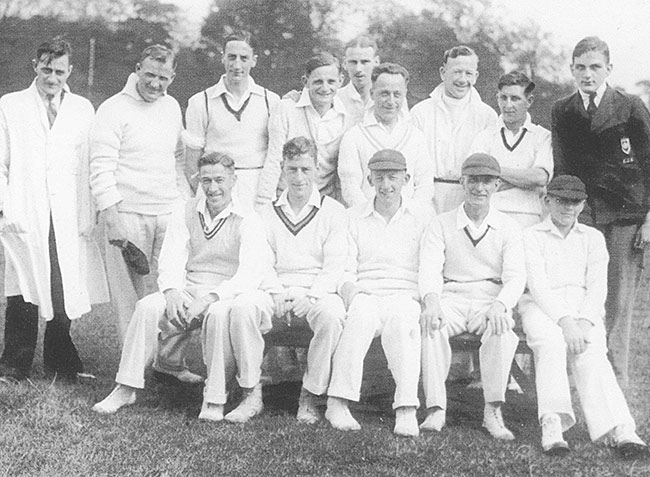 Burton Latimer Town Cricket Club team - c1935-6