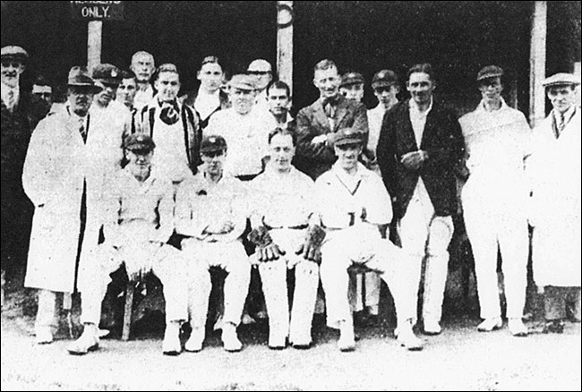 Players in the Feast Week cricket match - c1930