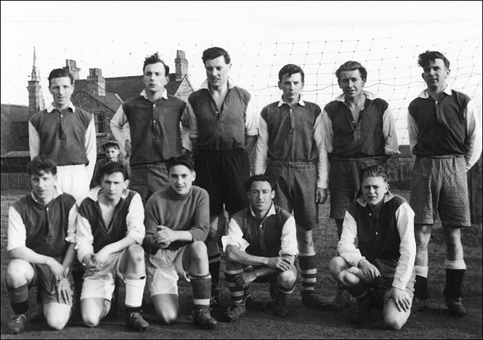 Burton Town Reserves pictured about 1955