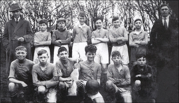 An unkown boys team from the early 1930's