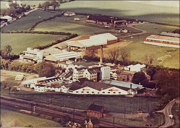 Aerial photograph taken in 1960 of the Weetabix complex
